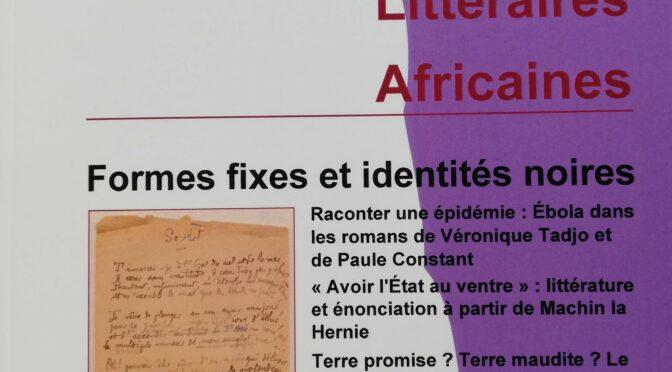 Formes fixes et identités noires. ELA 50 (2020)